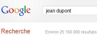 effacer mon nom sur google