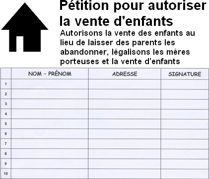 rediger une petition exemple