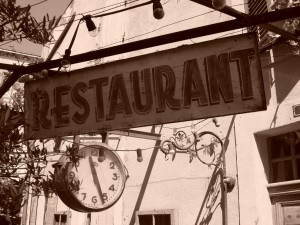 Faire chier un restaurant.