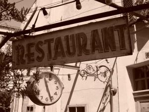 Faire chier un restaurant.